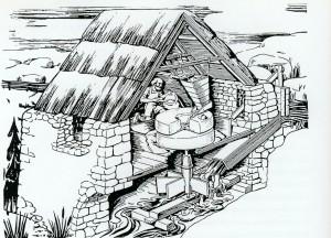 Stockmühle auf Lewis, Hebriden, Schottland