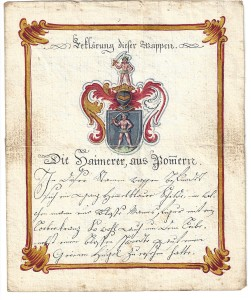 Wappen der Familie Haimmerer