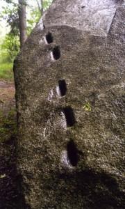 Keiltaschenreihe auf der Ostseite des Grauen Steins