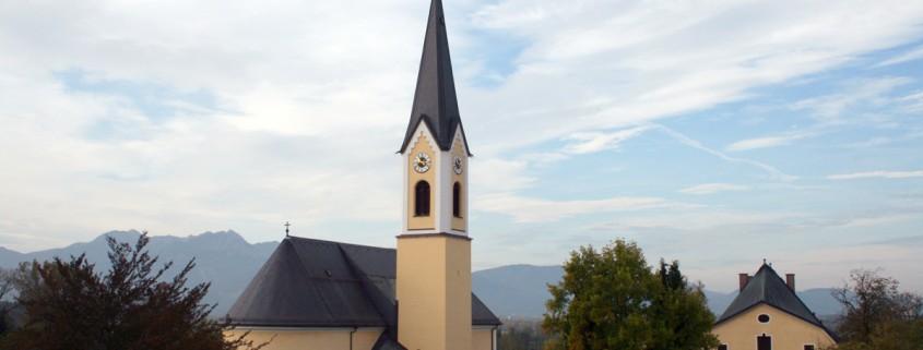 Blick vom Rathausturm zur St. Jakobus Kirche