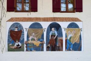 Wandmalerei am Lederer Haus
